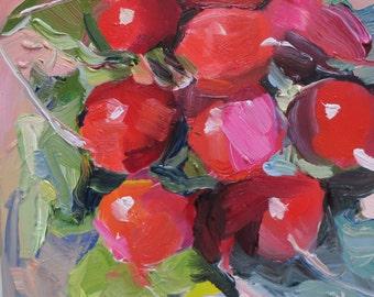 Radishes  an original oil painting done by South Carolina artist Linda Hunt