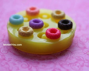 Cereal Mold Silicone Fake Sweets Mold Cereal Soap Cereal Charms Cereal Wax Melts Polymer Clay Sweets DIY Jewelry Cabochons