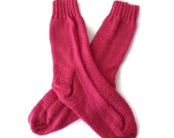 Socks - Women's Pink Socks - Size 7-8 - Valentine's Day - Gifts for Her - Sweetheart Gift - Casual Socks