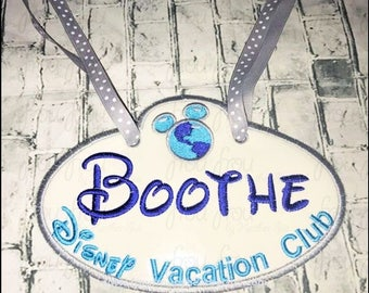 "Digital Embroidery Design Machine Applique Stroller Name Tag Dis Vacation Club IN THE HOOP Project 4""-16"""