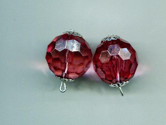 purple bead charm bead drops faceted crystal beads acrylic drops bead charms bead pendants 20mm 2 pc large acrylic big beads