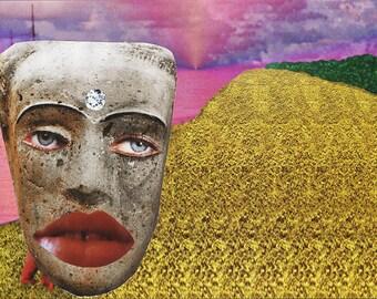 Magic Eye I / Collage Print /  Illusion / Collage Art (sizes a4 - a3)