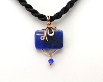 Lapis Lazuli Pendant. Listing 481611154 Price Reduced