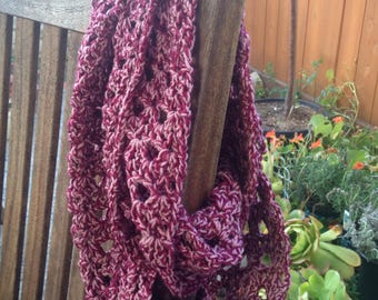 Sale Infinity scarf mauve and rose mix