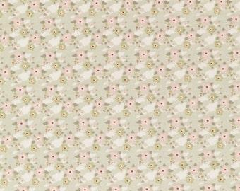 Tilda Fabric, Tilda Zoe Light Green Fat Quarter, Happiness is Homemade Collection, Tilda Cotton Fabric 480733, Fat Quarter, 50 cm x 55 cm