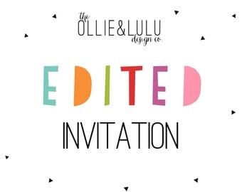 Edited Invitation