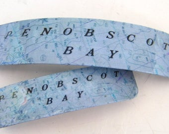 Penobscot Bay French Barrette - Mother Daughter gift - Mainemade - with Resin Coat