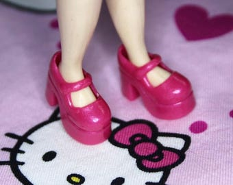 Blythe Magenta Pink Shimmer Platform Mary Jane shoes