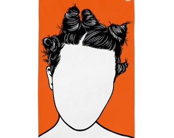 Bjork, Tea Towel, Bjork Towel, Bjork Kitchen Towel, Bjork Merchandise, Orange Tea Towel, Orange Dishcloth