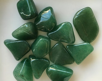 Aventirine Stones, Aventrine Crystal, Aventurine, Dark Green Aventurine, Polished Aventurine, Prosperity, Good Luck
