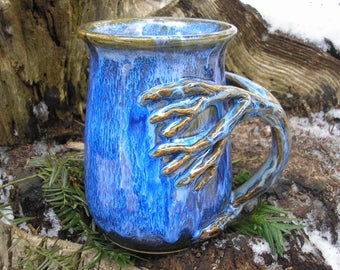 MONSTER Tree  mug for the nature lover, 32 oz. capacity,  tea mug , coffee mug, handmade mug, favorite mug, beer stein, tankard