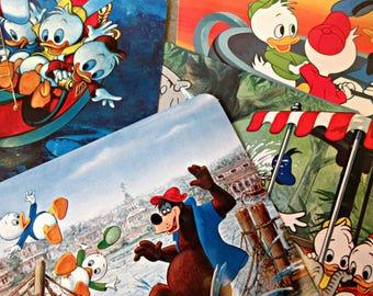 Vintage Postcards, Vintage Disneyland, Cartoon Characters, Vintage Disney, 1970s Disneyland Postcards, Donald Duck, Jungle Cruise, Teacups