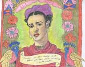 Frida Kahlo Set of Four Postcards