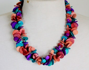 Statement Necklace Colorful Vintage