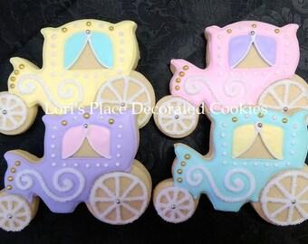 Princess Carriage Cookies - 12 Cookies