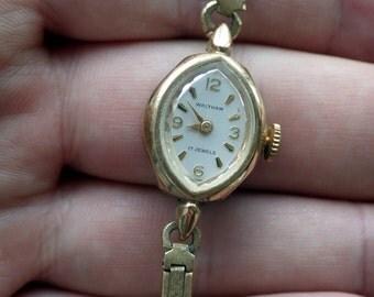 Vintage ladies Watch - Waltham - Working - Diamond Shaped.