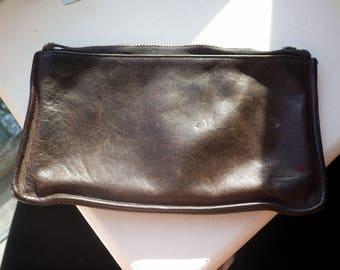 Coach Vintage Zipper Case - Pencil Case - Make up - Currency.