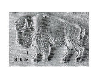38mm wide ~ BUFFALO casting ~ Solid Sterling Silver  ~ to be ordered ~ #EFJ-709 ~  FDK