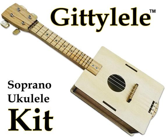 build it yourself diy ukulele kit easy to build fun to. Black Bedroom Furniture Sets. Home Design Ideas
