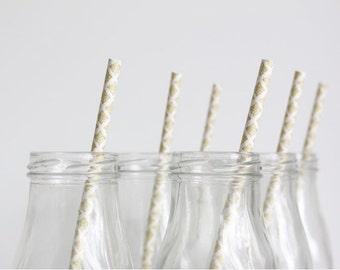 Gold Damask Paper Straws, Baby Shower, Bridal Shower, Wedding, Birthday, Paper straws