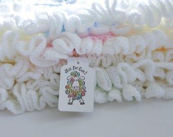 Baby's first blanket. Crochet ruffle edge blanket.