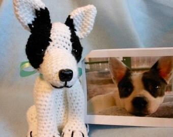 Custom Crochet Dog, Made to Look Like Owner's Dog, Canine, Stuffed Dog, Look Alike, Pet Memorial, Pet Remembrance, OOAK, Custom Dog