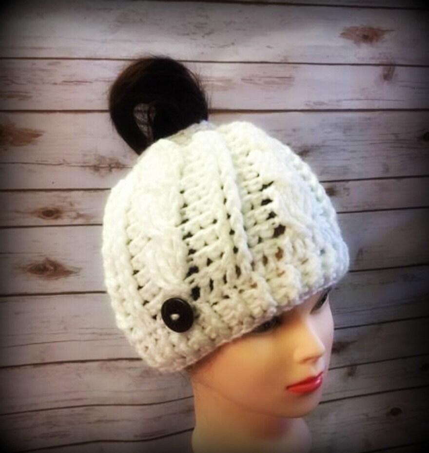 8a1d0a98545 Messy Bun Hat