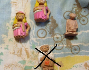 Miniature Solid Rubber ET Toy Vintage 80's Listing is for Choice
