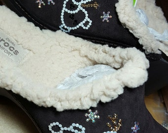 CUSTOM Olaf Swarovski crystal design shoe