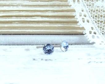 Small Blue Earrings 4mm Studs Blue Crystal Stud Earrings Tiny Studs Blue Stud Earrings Surgical Steel