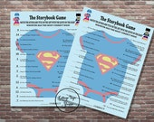 Baby Shower Games, Superhero Baby Shower Game, INSTANT DOWNLOAD, YOU print, The Storybook Game and Answers, Baby Shower Storybook Game