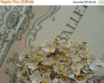 ON SALE Vintage Gorgeous Sand Color Bunch New/Old Stock Millinery Flowers