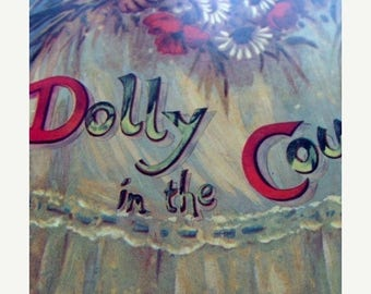 ON SALE Vintage Story Book Dolly in the Country