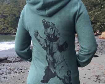 Bear-Hugger + Spruce Tree Zip Hoodie