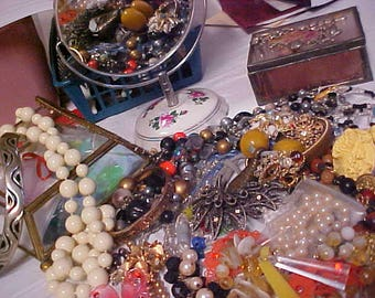 Free Ship ~2 (Two)  Pounds~Approx 50 Pieces~For WEAR~HARVEST Repair  JEWELRY  Lot