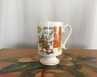Dentist Cup Funny Mug White Ceramic Vintage Coffee Cup Cartoon