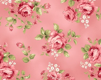Pink Flannel Fabric - Welcome Home - Maywood - F8360M-P