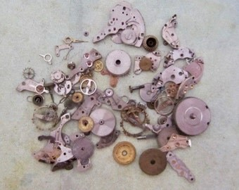 Watch parts for your jewelry or creative designs  Steampunk supplies  gears Cogs K28