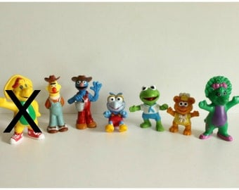 Sesame streets baby muppets pvc cake topper,Burt & Elmo gardeners,Kermit The Frog,Gonzo,BJ,Baby Bop,movie props,surprise bags,