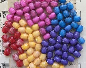 Vintage Barrel Shaped Beads