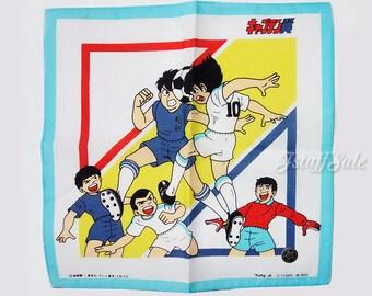 80's Anime Vintage Captain Tsubasa handkerchief