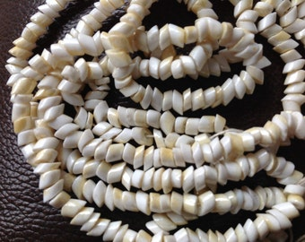 White Slant Cut Vintage Beads Seconds Priced to Sell