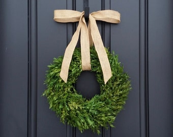 Narrow Wreaths, Boxwood Wreaths, Round Boxwood Wreath, Storm Door Wreath, Year Round Boxwood, Simple Wreath Boxwood, Small Wreaths, Thin