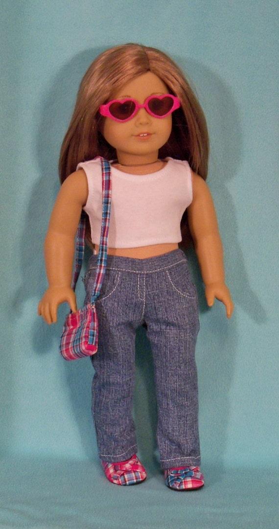 American Made 18 inch Doll Denim Boot Cut Jeans