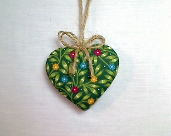 Green Heart Ornament | St Patrick's Day | Spring Decor | Party Favor | Decoration | Gift | Birthday | Tree Ornament | Handmade | #3