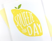 Graduation Card, Motivational Card, Yellow Lemon Card, Get Well Card, New Job Card, Greeting Card, Encouragement Card, Blank Card for Friend