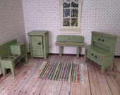 Vintage Dollhouse Furniture - Converse Realy Truly Kitchen - 3/4 Scale