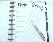 Happy Planner Inserts, Grocery List, Menu Planner, Happy Planner List, Planner Inserts, To Do List (12)