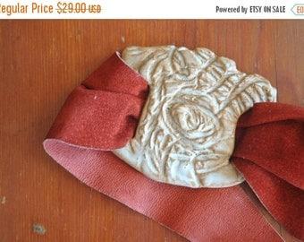 SALE 50% OFF Unique Boho Leather Belt / S-M