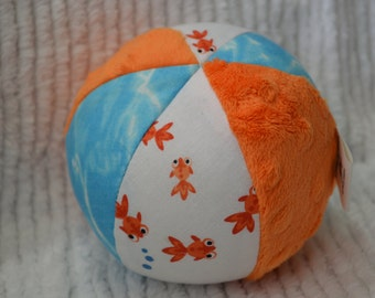 Cloth Jingle Ball Baby Toy with GOLDFISH fabric
